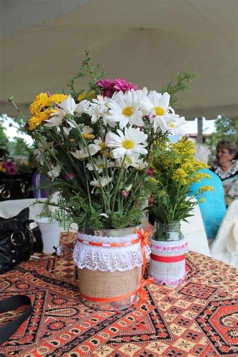 decorar vasos de mayonesa centros de mesa latas viejas decoras potes de mayonesa