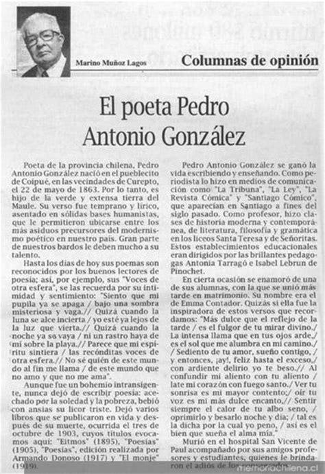 El poeta Pedro Antonio González : columnas de opinión