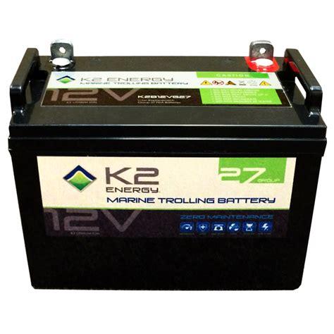 marine battery charging time k2 energy 12v k2b12ve27 lithium iron phosphate marine
