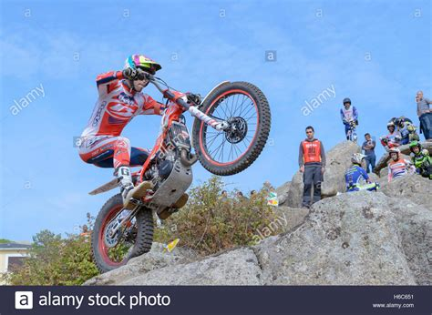 Motorrad Trial Meisterschaft by Spain Trial Chionship Moment Toni Stockfotos Spain