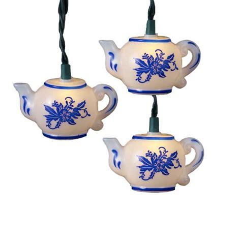kurt adler lights kurt adler ul 10 light teapot light set in