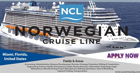 norwegian cruise careers ncl cruise usa latest jobs apply now