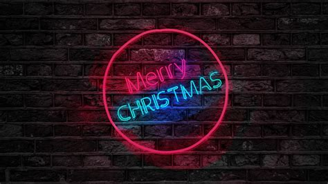merry christmas neon sign   wallpapers hd wallpapers id