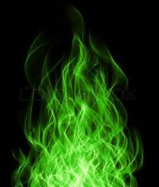 Green Home Plans Free green toxic fire flame on black background stock photo