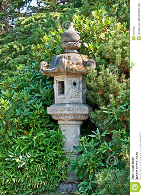concrete decor japanese style garden decor stock photography image