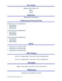 professional resume openoffice template