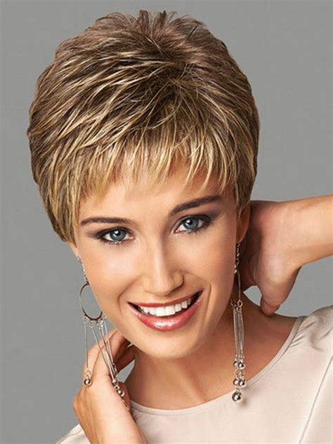 short forehead hairstyles on pinterest highlighted synthetic highlights blonde short female haircut puffy