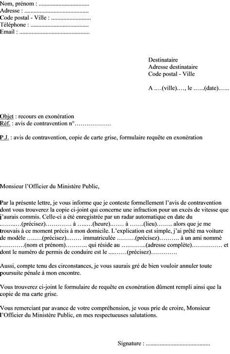 Exemple De Lettre Contestation Amende exemple de lettre gratuite contestation