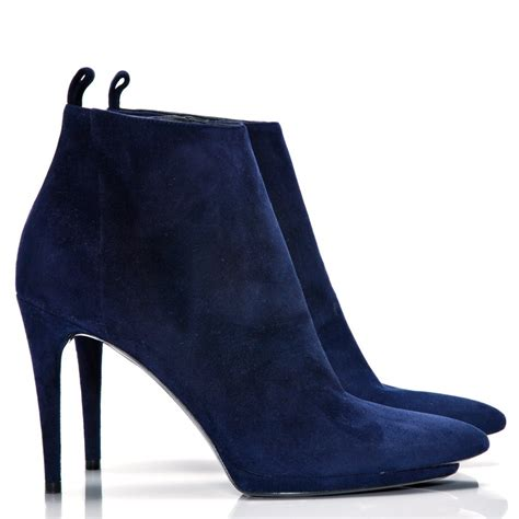 navy suede ankle boots balenciaga from cricket fashion