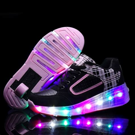 wheels light up shoes new 2016 child wheely s jazzy led light roller skate shoes