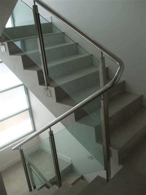 Stainless Steel Handrail Glass Balustrade corcoran s the metal fabricators mosman handrails