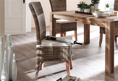 Rattan Dining Room Furniture Rattan Dining Chairs That Are Chic For Your Rooms Gosiadesign