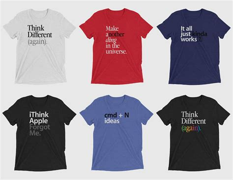 Tshirt Apple Think Different sarcastic apple t shirts urge cupertino to think