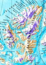 where is ellesmere island on a map of canada land atmosphere snow interactions in the high arctic