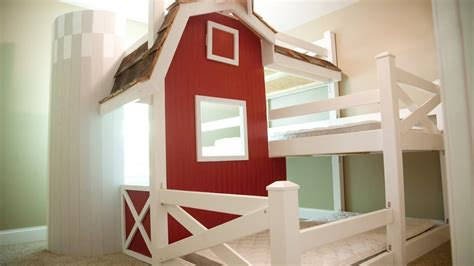 farm bed homemade farm barn triple bunk bed diy youtube