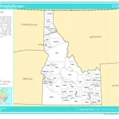 us map with selected cities us map idaho counties with selected cities and towns