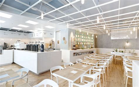 Minimalist Cafe Interior Design by Laboratory Inspired Minimalist Coffee Bar