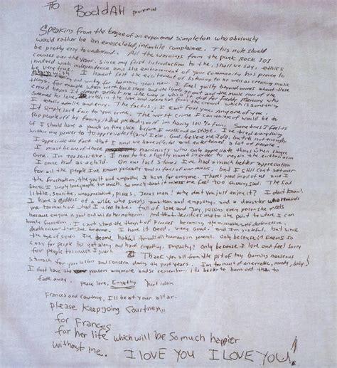 lettere di suicidio kurt cobain la lettera di addio