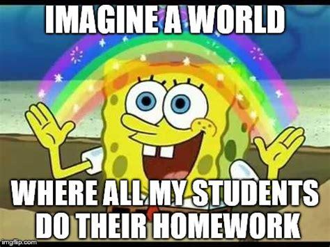 Spongebob Homework Meme - spongebob imagination imgflip