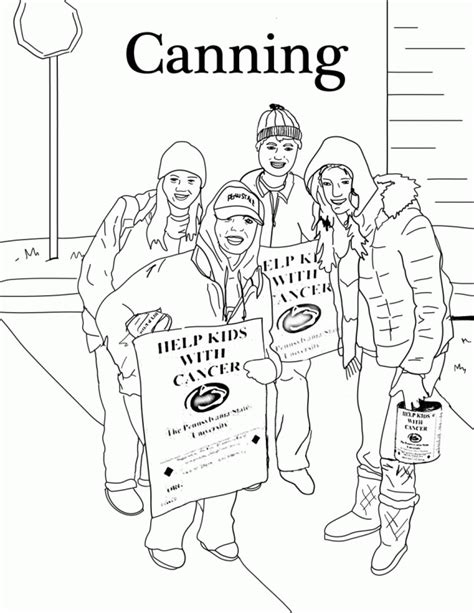 coloring pages penn state dance marathon 251183 family