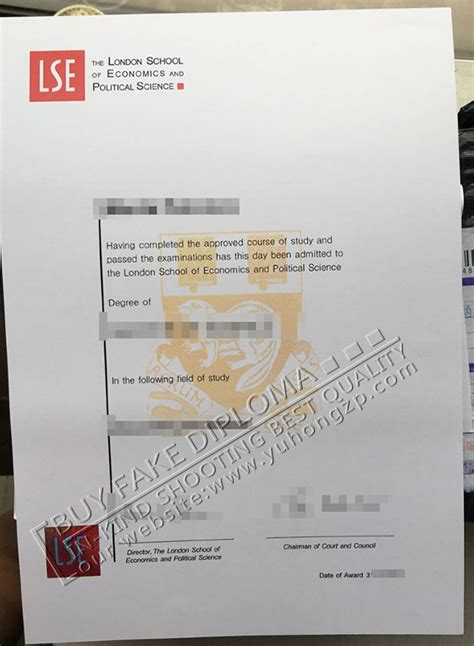 Lse Mba Admission Requirements by Lse Replica Diploma Buy Lse Certificate