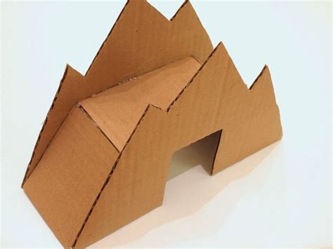 How To Make A 3d Mountain Out Of Paper - 1000 ideas about cardboard on