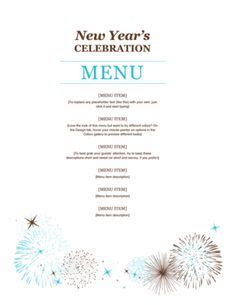 new year banquet menu sydney menu template word