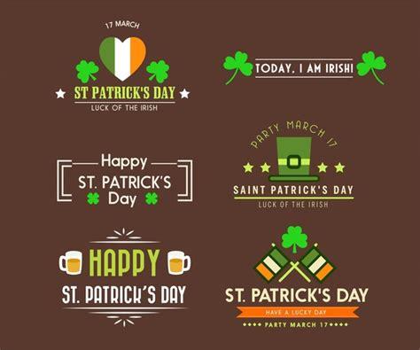 free logo design ireland st patricks day logo design elements in flat design free