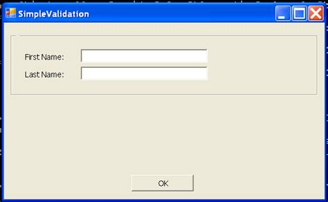 pattern programs in c sharp simple form validation 软件开发程序员博客文章收藏网