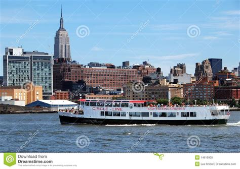 circle boat tours nyc nyc circle line tour boat editorial image image 14616900