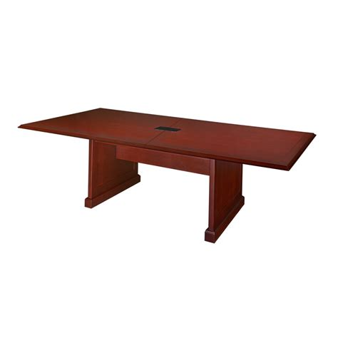 conference table with power prestige 120 quot x 48 quot conference table with power data grommet mahogany