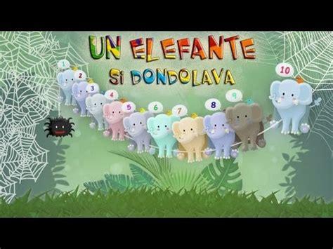 elefante  dondolava canzoni  bambini  kids songs youtube