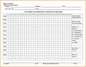 Attendance Roster Template by 2016 Attendance Record Pdf Calendar Template 2016
