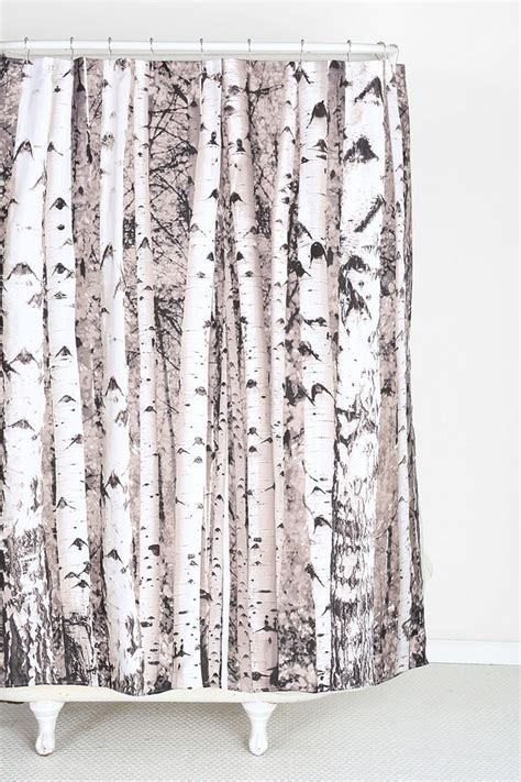 birch shower curtain birch tree shower curtain