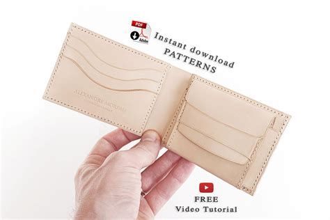 leather wallet pattern free download bifold wallet patterns download free video tutorial am