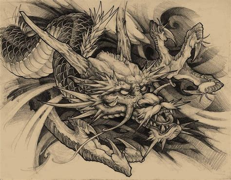 dragon tattoo drawing drawing irezumicollective