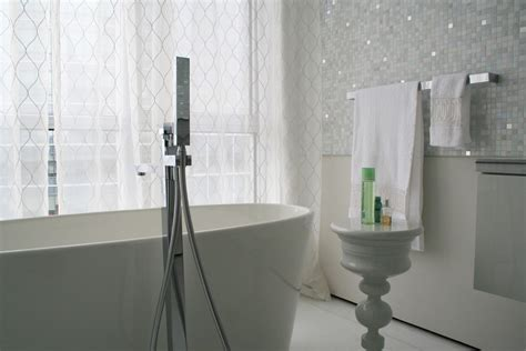 modern white tile bathroom white mosaic tile bathroom contemporary with bathroom tile