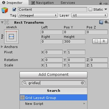 grid layout group unity unity ui tutorial using scroll views and grid layouts