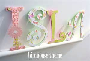 Decorating Wooden Letters For Nursery Handpainted And Decorated Wooden Letters Nursery Decor Themes On Luulla