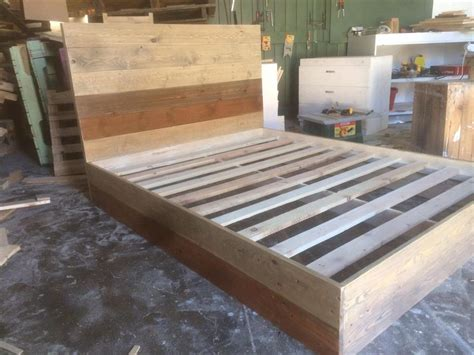 Handmade Bed Frame Plans - diy pallet platform bed 101 pallets