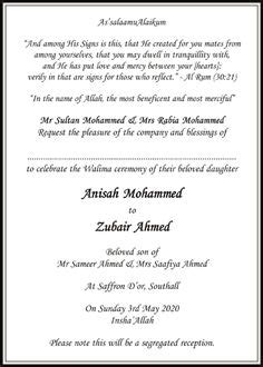 muslim wedding cards wordings in urdu muslim wedding cards wordings islamic wedding invitations wordings g wedding