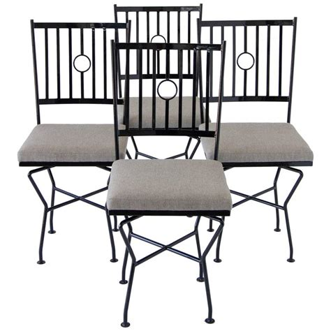 iron dining room chairs set of four swivel wrought iron patio dining chairs for