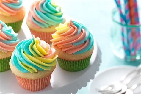 colorful cupcakes rainbow frosted cupcakes flourish king arthur flour