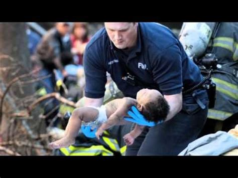 baby saves firefighter saves baby on thanksgiving
