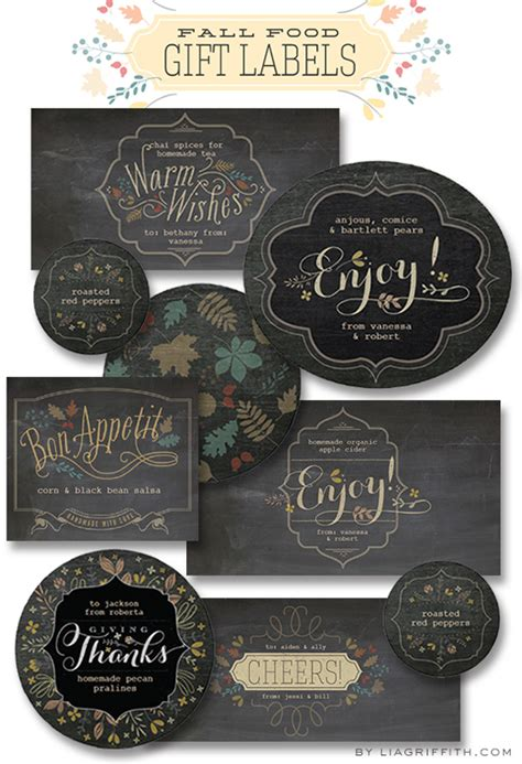 printable labels for your fall food gifts by lia griffith free printable chalkboard labels wallpaper