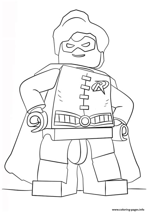lego batman robin coloring pages printable