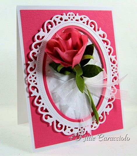Rosebud Pipih cards floral ovals on 100 pins