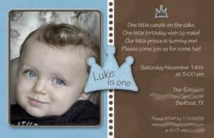 1st birthday invitation wording for baby boy baby boy 1st birthday invitation prince by