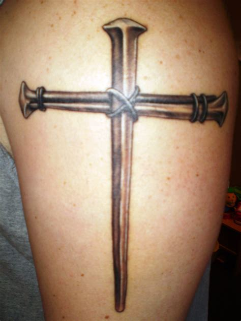 nail cross tattoo tattoo collections