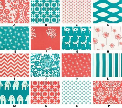 coral and turquoise baby bedding custom for olberdink boutique coral turquoise and gray palette baby n
